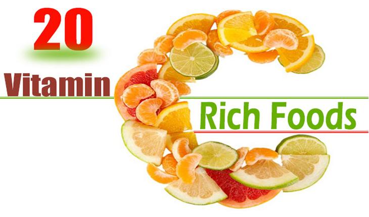 Kết quả hình ảnh cho thực phẩm giàu vitamin C