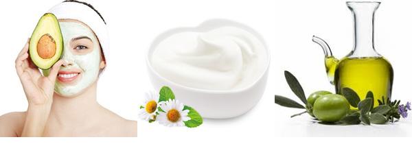 Mặt nạ dưỡng ẩm làm từ sữa chua, dầu ô lưu và trái bơ