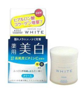 Kem dưỡng trắng da Kose Moisture Mild White Cream