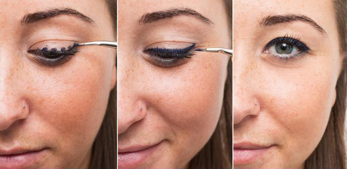 Cách kẻ mắt nước tự nhiên bằng những đường đứt khúc