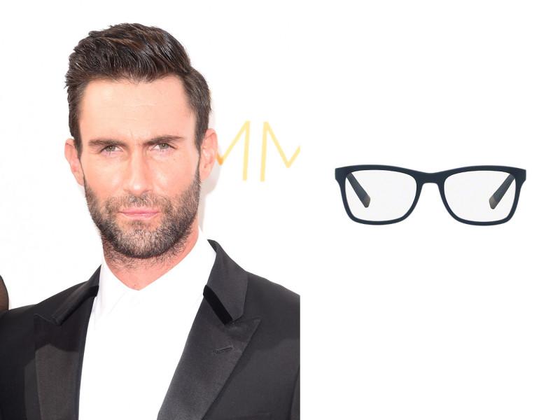 Chọn kính cận phù hợp với gương mặt dài của nam như Adam Levine