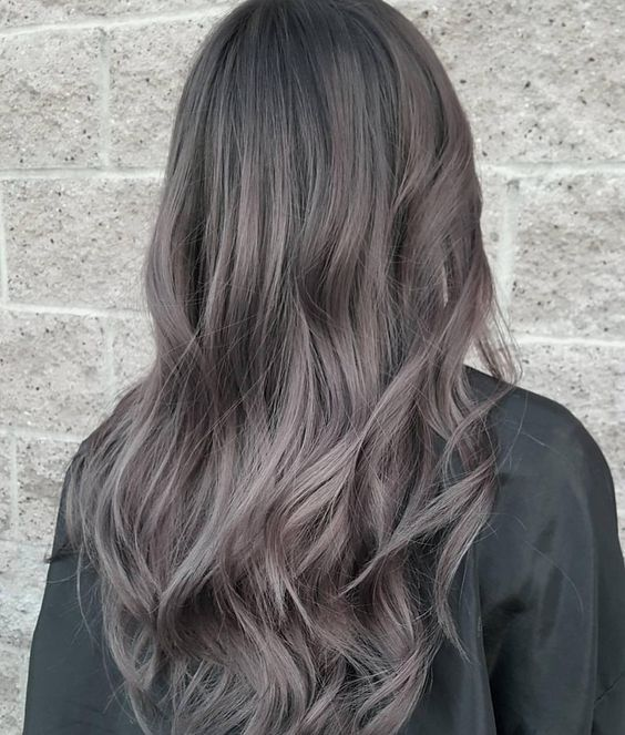 charcoal hair color gray