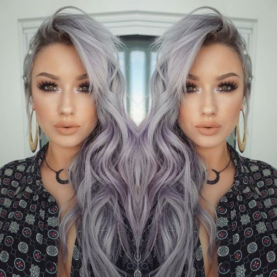 charcoal hair color silver